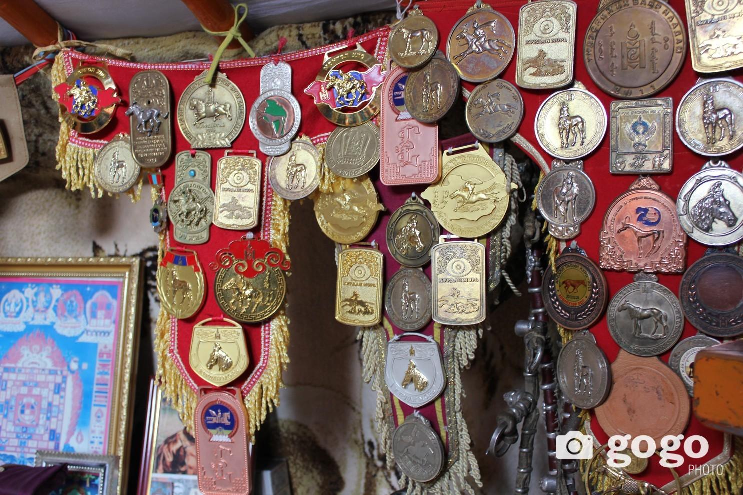 D.Ganbat`s awards and medals