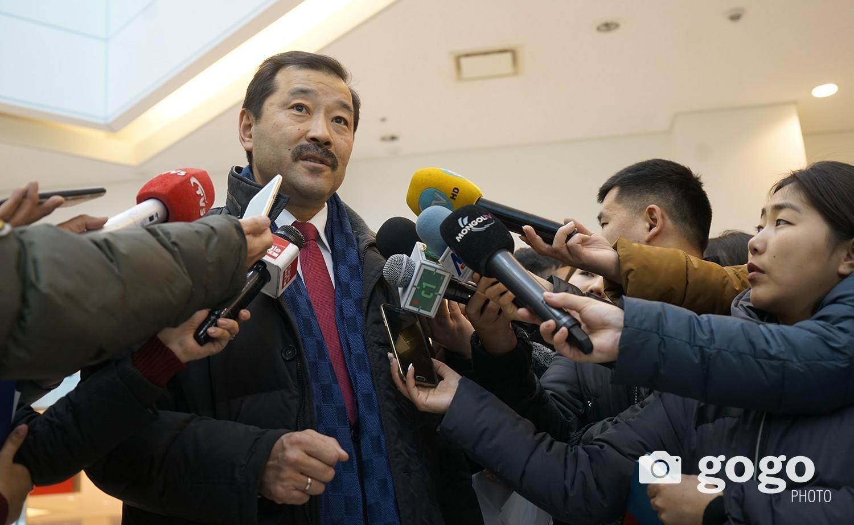 Minister of Road and Transportation Development J. Bat-Erdene